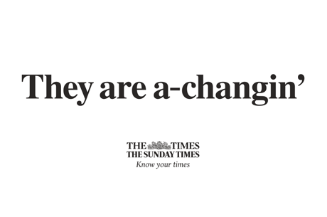 The Times and The Sunday Times reveal new brand campaign