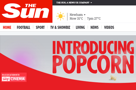 Sky Cinema launches Popcorn with The Sun