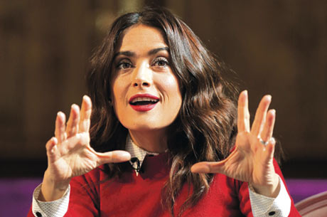 The Oscar-winning actress, Salma Hayek, believes social media is helping women make their voices heard. Now, she says, we're hot, smart and powerful