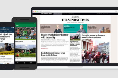 The Times and The Sunday Times launch new website and apps