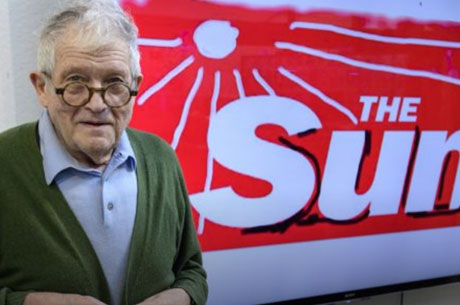 Hockney redesigns The Sun's logo