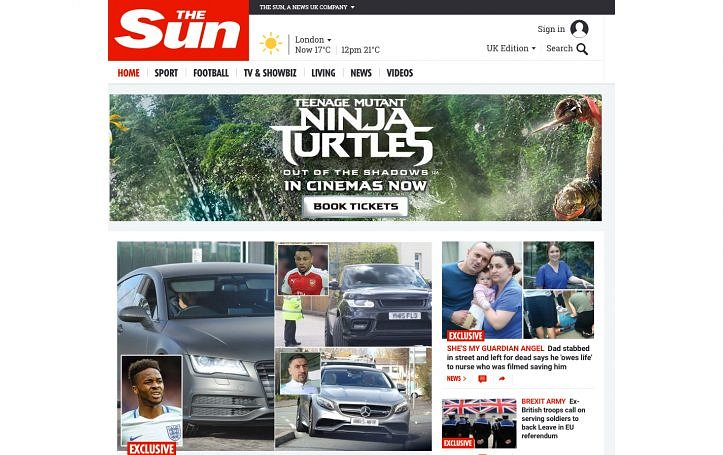 The Sun becomes the second biggest UK newspaper website