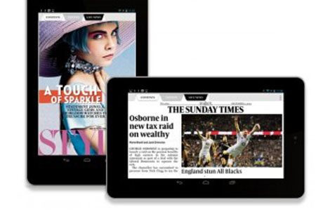 Record breaking tablet reads for The Sunday Times
