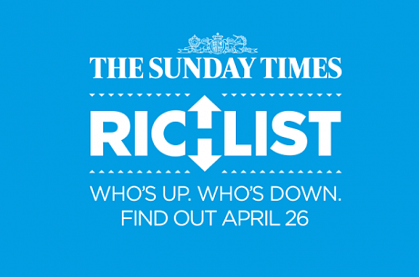 The Sunday Times 2015 Rich List published this Sunday 26th