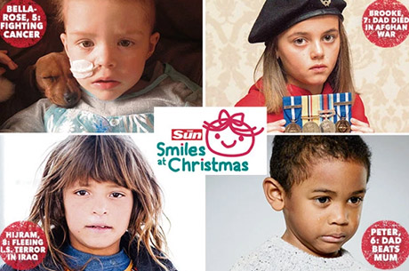 The Sun to spread #SmilesAtChristmas with cash, toys and teddies